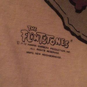 the flintstones Tops - FLINTSTONES Pebbles and Bam Bam vintage tee